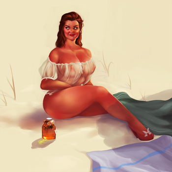 Pin up for Milftoon Beach game 2 by Milftoonfan