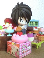 Nendoroid L and his sweets by VioletLunchell