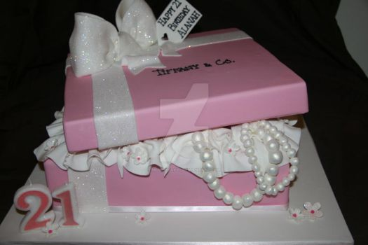 Gift box cakes favourites by cake engineering on deviantart baby pink gift box by mudpiecakes negle