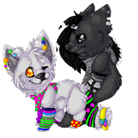 .:Pixel:. Cupcake and Darkness by oOCupcakeOo