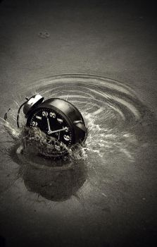 Beauty of Water and Clock by anderton