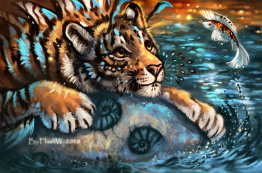 Water tiger by FlashW