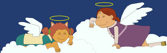 Angel Muffy and Sue Ellen sleeping on clouds by GuiherCharly