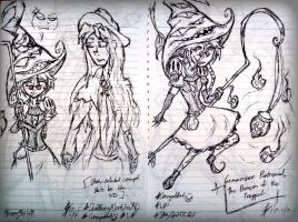 (NEW AU WIP) - Rough Concept Sheets! by ScarySkits11