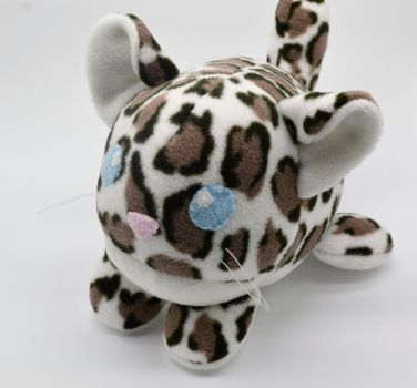 Chibi Cub Roll Snow Leopard Plush by Gemlettuce