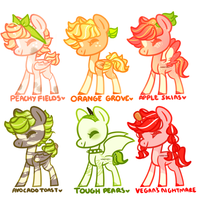 'fruits and meats' adopts [closed] by pinktoys