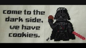 Darth Vader cross stitch by Santian69