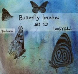 Butterfly set - 02 by LunaNYXstock