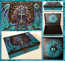 Turquoise Dragon Treasure Chest by TrollGirl