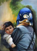 Mother and Child by Lubna-fatiha