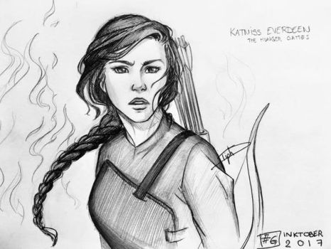 Inktober 2017 : Katniss by Tiphs
