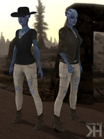 Liara Adventurer Outfit (XPS) by Grummel83