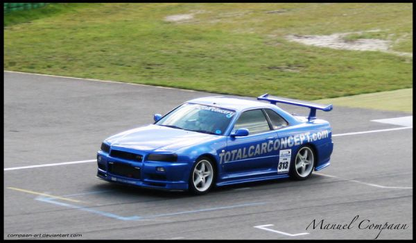 1999 Mines Skyline R34 GT-R by compaan-art