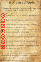 Pirate tavern rules by Horned-Lyzz