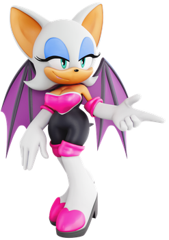 Rouge the Bat (Sonic Adventure 2 Style) by ModernLixes