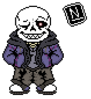 Defferentfell or Violetfell - Sans (My take) by Nerveabhorrence