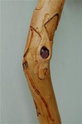 carved walking stick by lousephyr