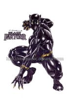 Black Panther by kiborgalexic