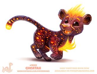 Daily Paint 1893# Cheatah by Cryptid-Creations