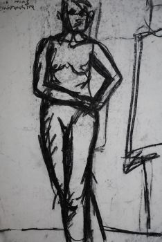 life drawing - continuous line by giddiedamien