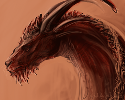 Red dragon by SketchingWorlds