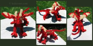 Red Dragon -- Pipe Cleaners by kalicothekat