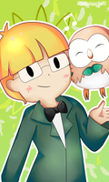 Jeff and Rowlet by Mariamagic59