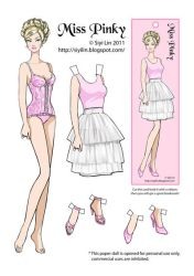 Miss Pinky paper doll by siyilin