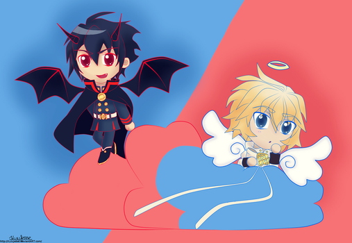 Mika and Yuu - Angel and Demon by ILuvJesse