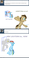 Doctor and Rainbow Dash: Lost by bookfangeek