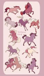 horse sketches 2 by BabaKinkin