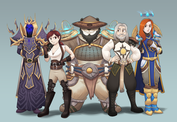 Get the gang together - WoW Commission by BlackSpotDesign