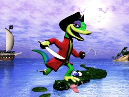 Repaired Pirate Gex wallpaper by Dracon1k