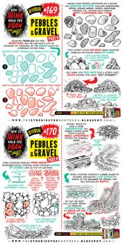 How to draw PEBBLES and GRAVEL tutorial by STUDIOBLINKTWICE