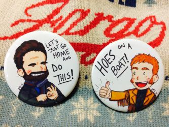 Fargo Mr. Wrench and Mr. Numbers Buttons by LadyDorian
