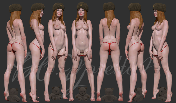 Russian Girl character sheet by Pedro-Moretto