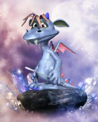 Li'l Dragon of the Crystal Realm by RavenMoonDesigns