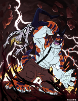 A Clash of Raging Spirits II by Kilo-Monster