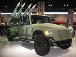 military rocket launcher truck by reika7