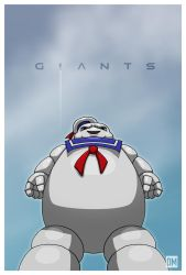 Giant - Stay Puffed Marshmallow Man by DanielMead