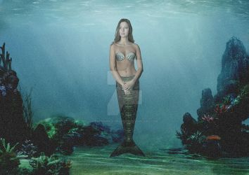 First Attempt Doing a Mermaid Photomanipulation by Ravenwolf-Graphics