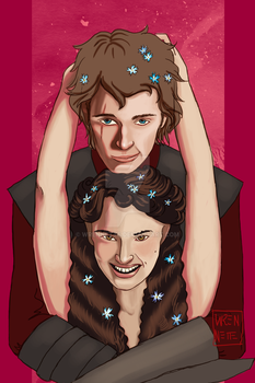 Anakin and Padme by wrennette