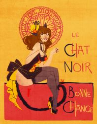 Chat Noir - Pin Up - by VPdessin