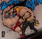 Zangief vs King by Pe-u