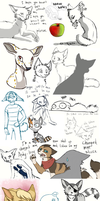 Sketchdump (Twitter and traditional) by SpitfiresOnIce