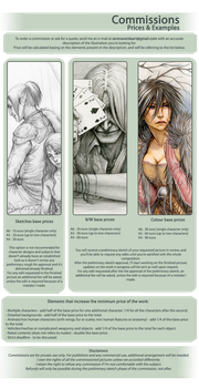 Commissions Info Sheet by SerenaVerdeArt
