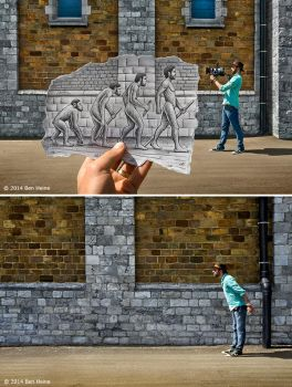 Behind The Scene - Pencil Vs Camera 55 by BenHeine