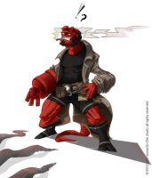 oh red, oh hellboy. by thechulo