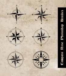 Compass Rose Photoshop Brushes by sdwhaven