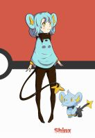 Shinx Girl Pokemon by WhaleOfNightmare